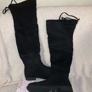 JG Suede Over the Knee Boots